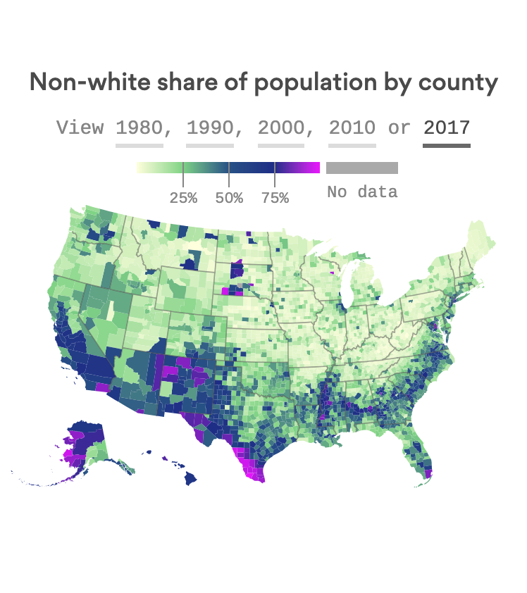 America is on the way to a majority minority future by 2045