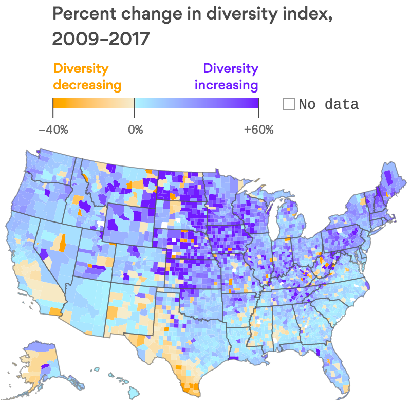 Where America's diversity is increasing the fastest
